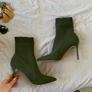 Steve Madden sock heels - forest green